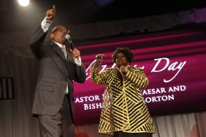 "Bishop Paul S. Morton & Pastor Shirley Caesar team up on ""Oh Happy Day"""